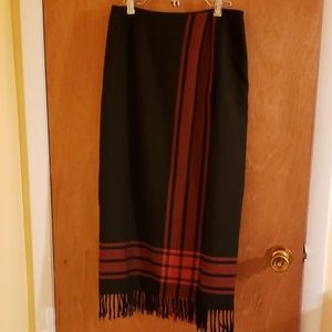 Black and red wrap skirt, size 8